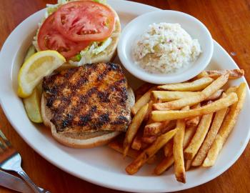 the back porch amberjack sandwich