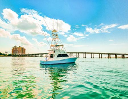 Navigator Destin, Luxury fishing charter boat.